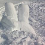 snöskulptering i Åre