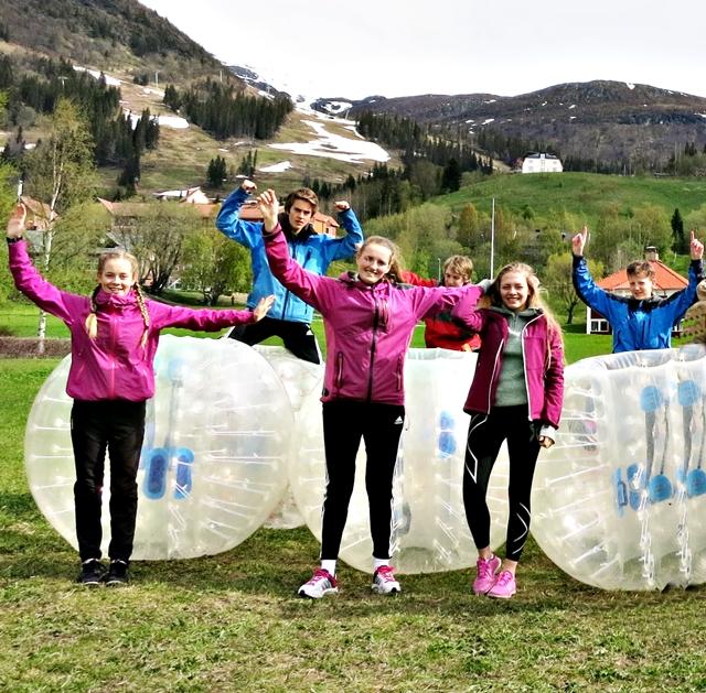Bumperball på skolresan till Åre