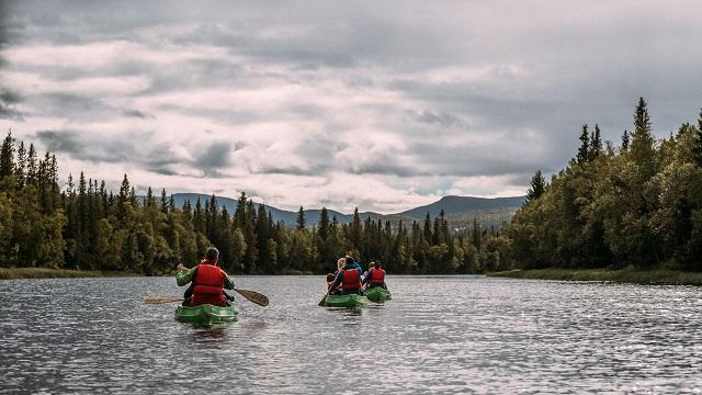 tre kanoter i Åre